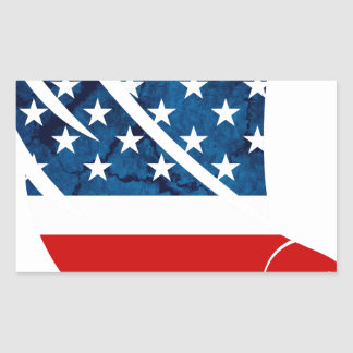 Freedom Eagle USA Rectangular Sticker