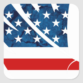 Freedom Eagle USA Square Sticker