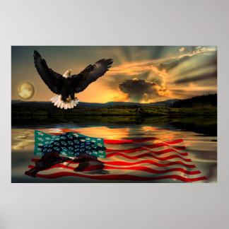 Freedom-Eagle-W-Flag-2010 Poster