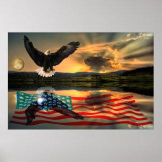 Freedom-Eagle-W-Flag-W-Star-burst-2010 Poster