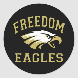 Freedom Eagles Classic Round Sticker