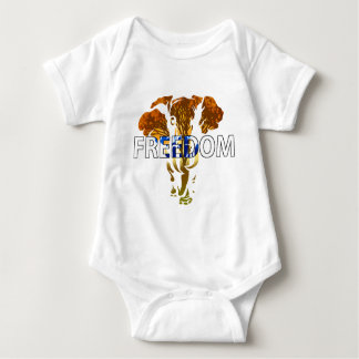 Freedom! Elephant Design Baby Bodysuit
