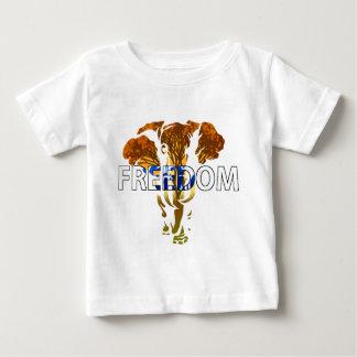 Freedom! Elephant Design Baby T-Shirt