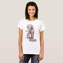 """Freedom"" Elephant Women's T-shirt"