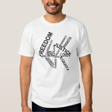 Freedom Equality Justice Basic Tee Shirt