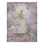 Freedom Fairy and Butterfly Poster Print