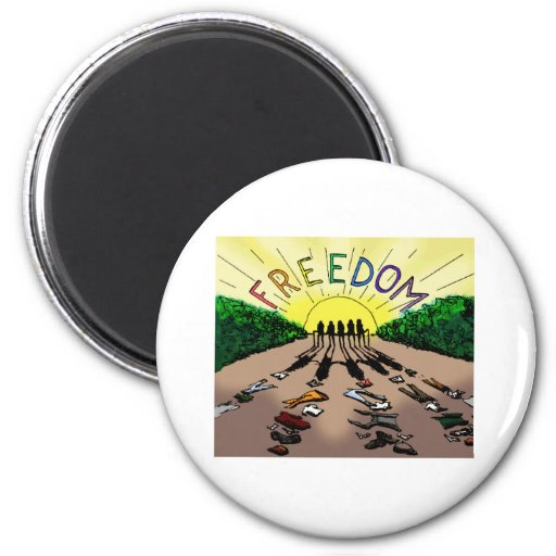 Freedom- Feral Style Refrigerator Magnet