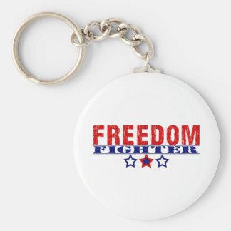 Freedom Fighter Basic Round Button Keychain