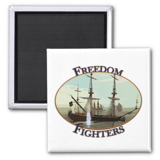 Freedom Fighters 2 Inch Square Magnet