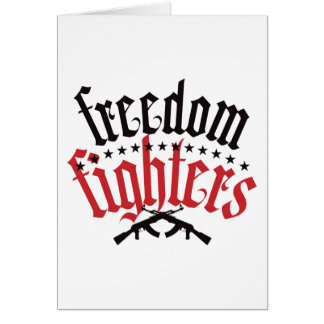 Freedom Fighters AK47 Greeting Card