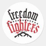 Freedom Fighters AK47 Classic Round Sticker