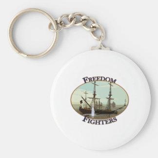 Freedom Fighters Basic Round Button Keychain