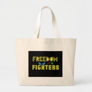 freedom fighters new logo large tote bag