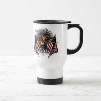 Freedom fireworks travel mug