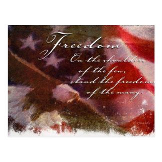 Freedom-Flag and Eagle Postcard