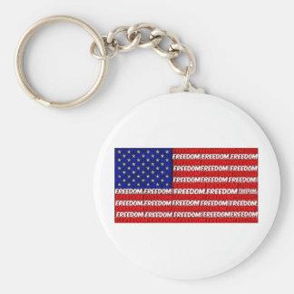 Freedom Flag Keychains