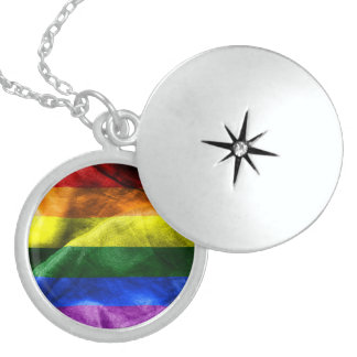 Freedom Flag Locket Necklace