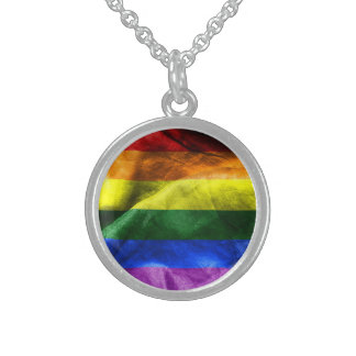 Freedom Flag Sterling Silver Necklace