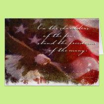 Freedom Flag with Eagle-4 Card
