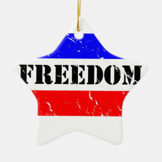 FREEDOM FLAIR CERAMIC ORNAMENT