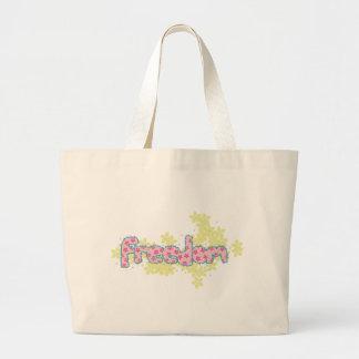 freedom_flower canvas bag