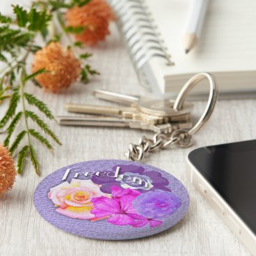 USA Themed Freedom flowers keychain