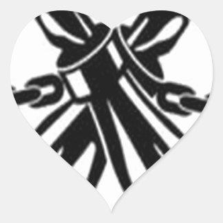 Freedom for all design heart sticker