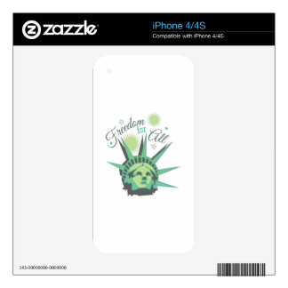 Freedom For All Skin For iPhone 4