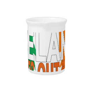 Freedom for Ireland '.png Beverage Pitcher
