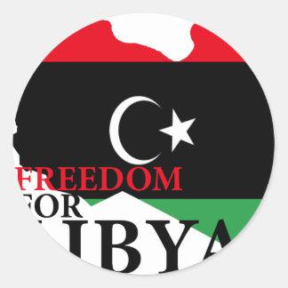 Freedom for Libya Classic Round Sticker
