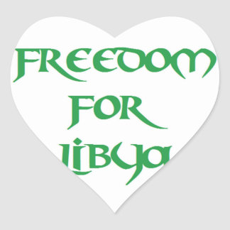 Freedom for Libya Heart Sticker