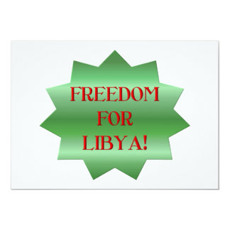 Freedom for Libyans! Card