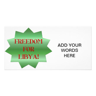 Freedom for Libyans Customized Photo Card
