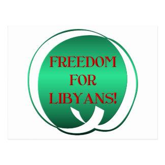Freedom for Libyans! Postcard