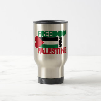 Freedom for Palestine 15 Oz Stainless Steel Travel Mug