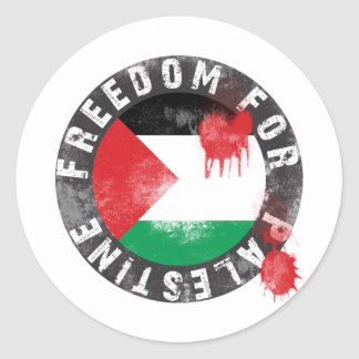 Freedom for Palestine Classic Round Sticker