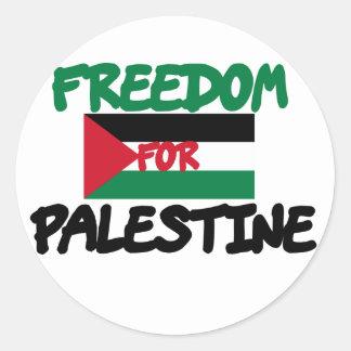 Freedom for Palestine Round Stickers