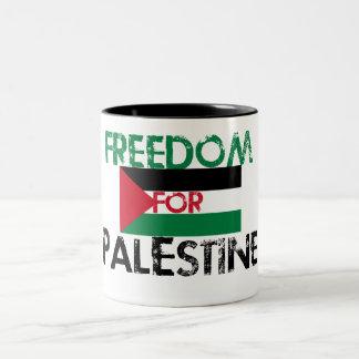 Freedom for Palestine Two-Tone Coffee Mug