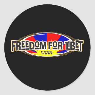 Freedom for Tibet Classic Round Sticker