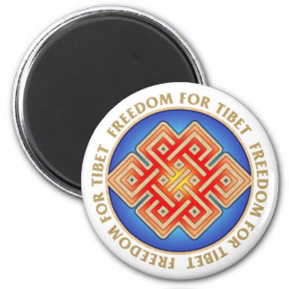 Freedom for Tibet Endless Knot Pattern Magnet