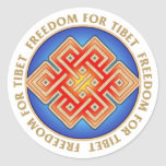 Freedom for Tibet Endless Knot Pattern Sticker
