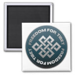 Freedom For Tibet Stitch Magnets