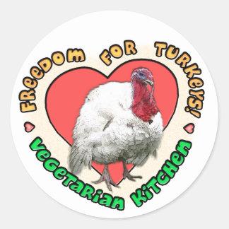 Freedom for Turkeys Classic Round Sticker