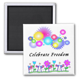 Freedom Garden 2 Inch Square Magnet