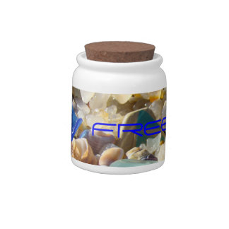 FREEDOM gifts Candy Jars Seaglass Independence Day