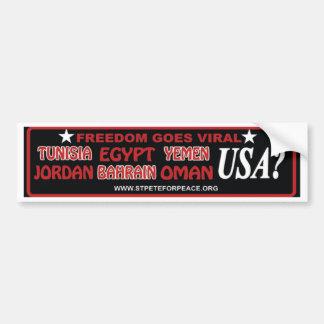 Freedom Goes Viral! Bumper Sticker
