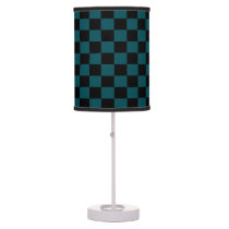 Freedom Green and Black Checkered Shaded Lamp