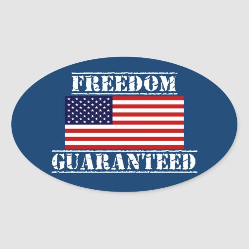 FREEDOM GUARANTEED U.S. Flag Stickers