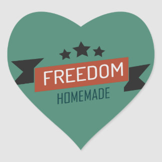 Freedom - homemade version heart sticker