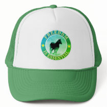 Freedom (horse, green) trucker hat